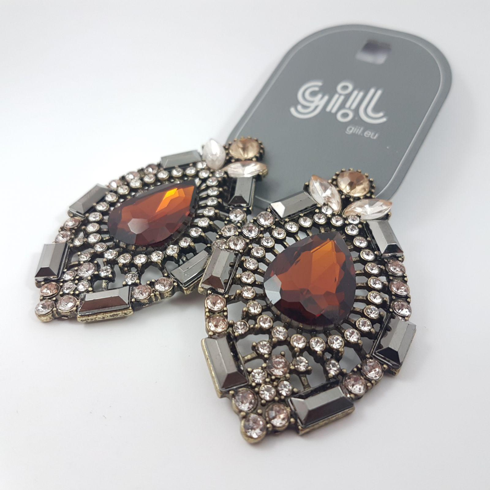Bohaté náušnice s velikým kamínkem GIIL