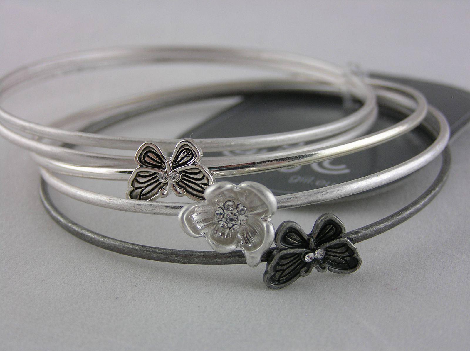 Kovové jednotlivé náramky s motýly GIIL