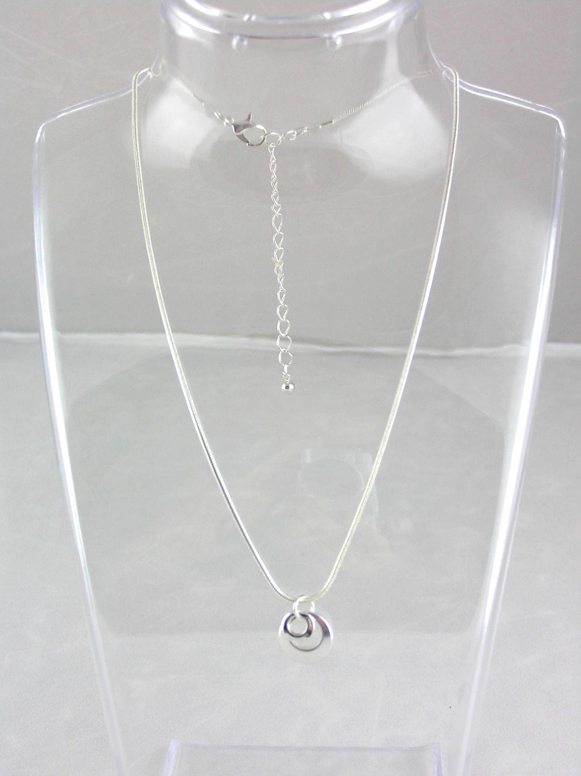 Stříbrný náhrdelník se dvěma kroužky GIIL