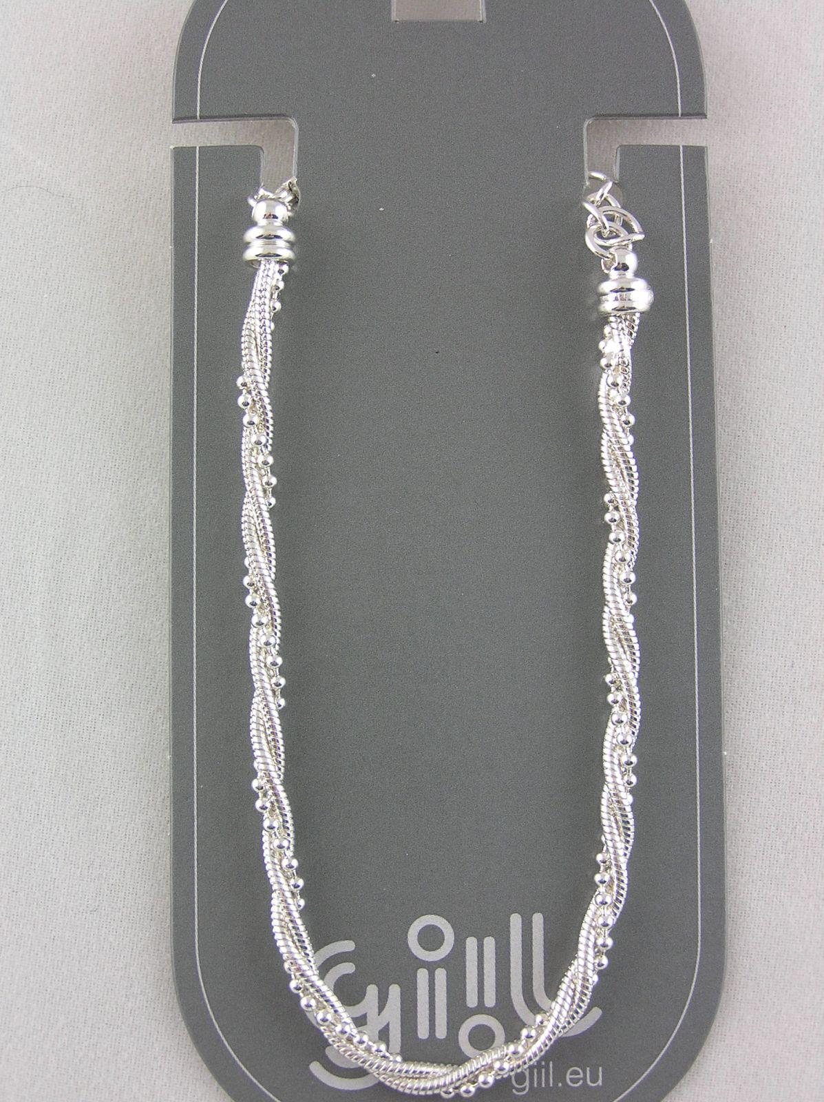 Kovový jemný náramek s perličkami GIIL