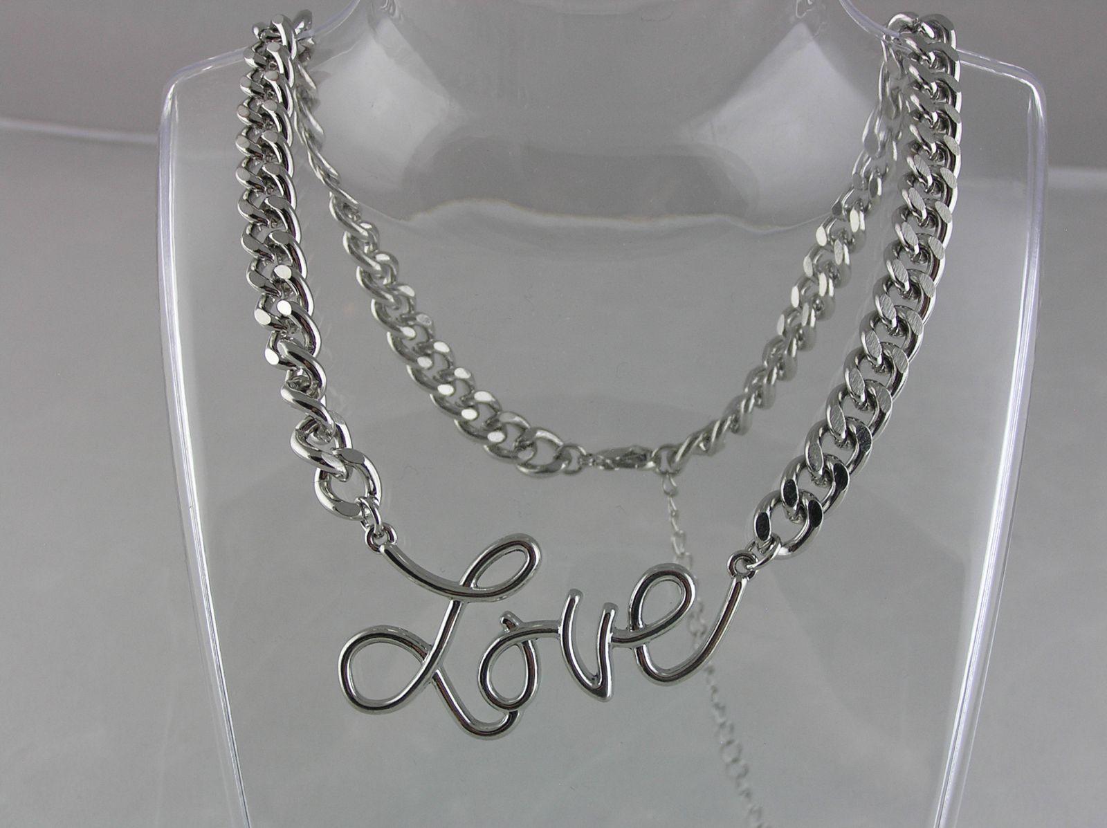 Stříbrný náhrdelník LOVE (Láska) GIIL