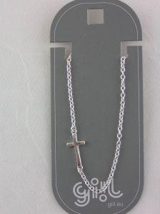 Kovový řetízkový náramek s křížkem
