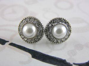 Náušnice Elegantní perličková kola