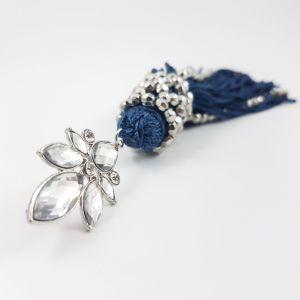 Náušnice s modrými provázky