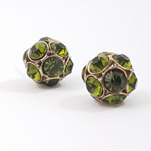 Náušnice se světle zelenými kamínky