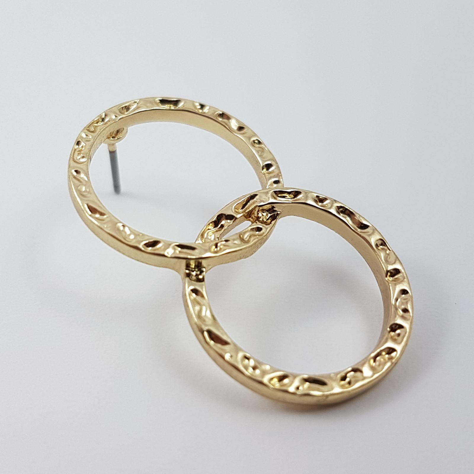 Náušnice zlaté dvoukruhy GIIL