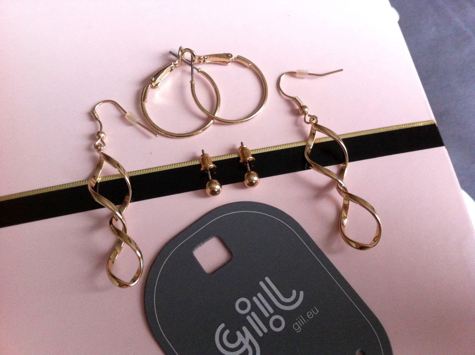Sada tří zlatých náušnic GIIL