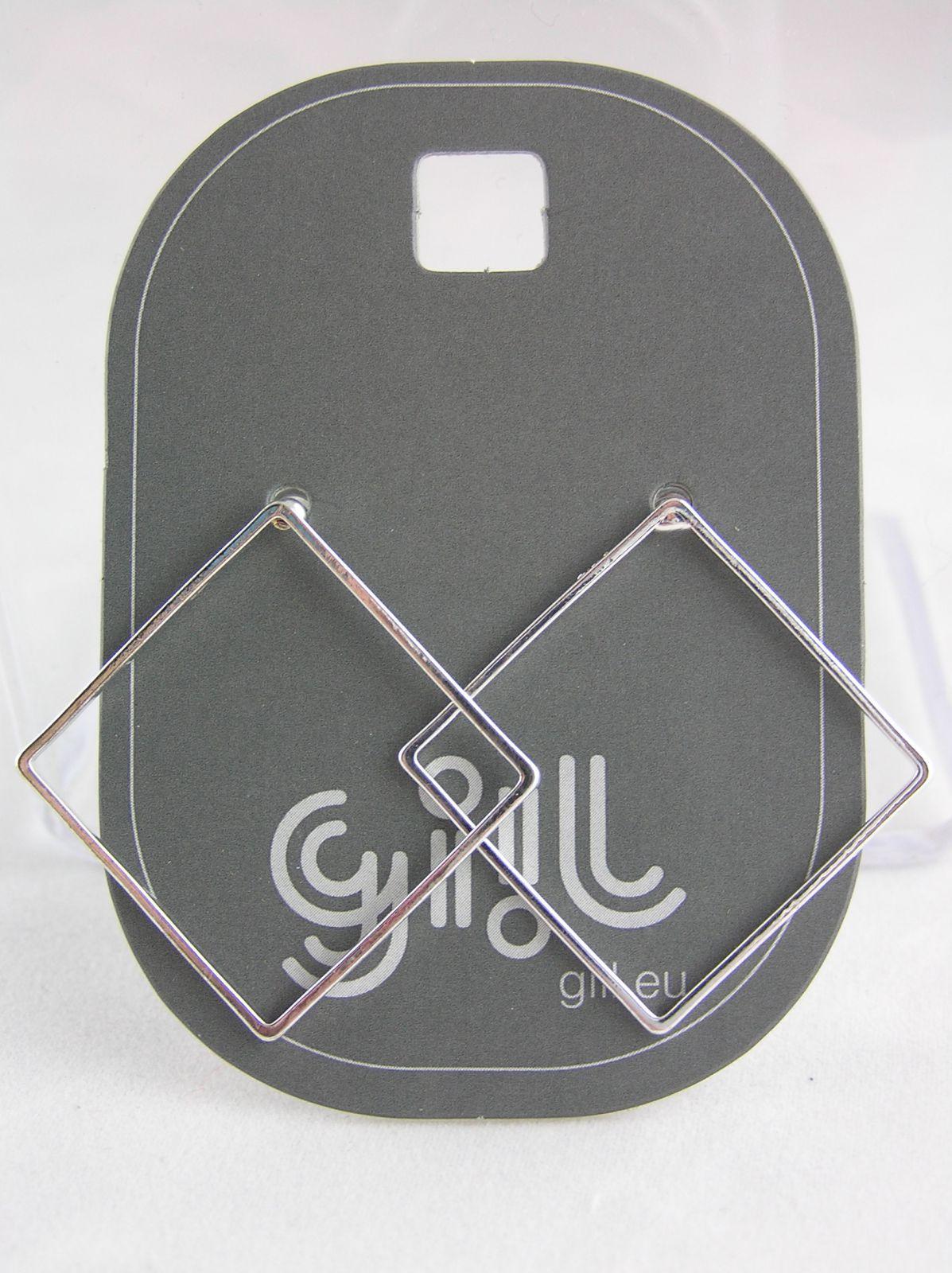Stříbrné čtvercové náušnice GIIL