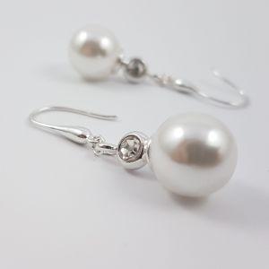 Stříbrné náušnice s perličkami GIIL