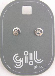 Stříbrné peckové mini náušnice znak peace (mír)