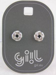 Stříbrné peckové náušnice ve tvaru uzlíčků