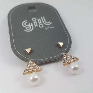 Trojuhelníkové náušnice s kamínky