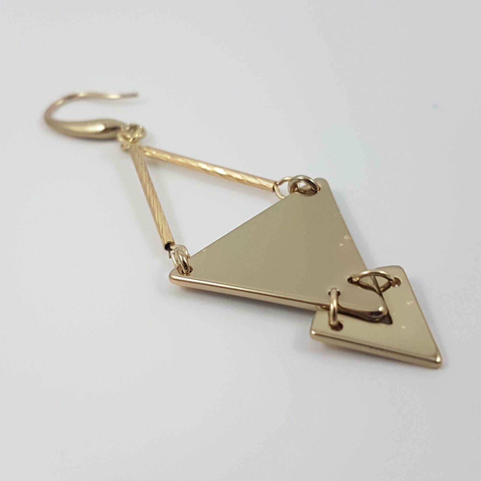 Zlatavé náušnice s trojuhelníkem GIIL