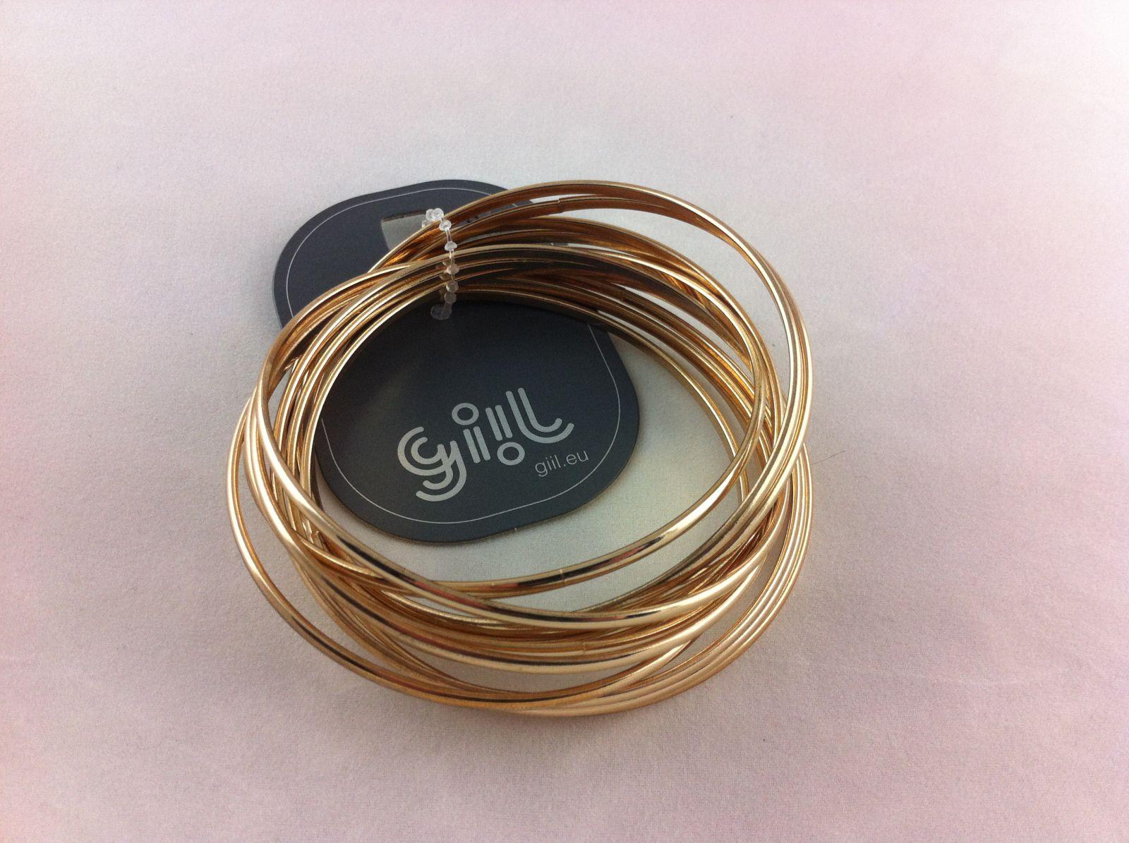 Zlaté náramky jednoduché navlékací kruhy GIIL