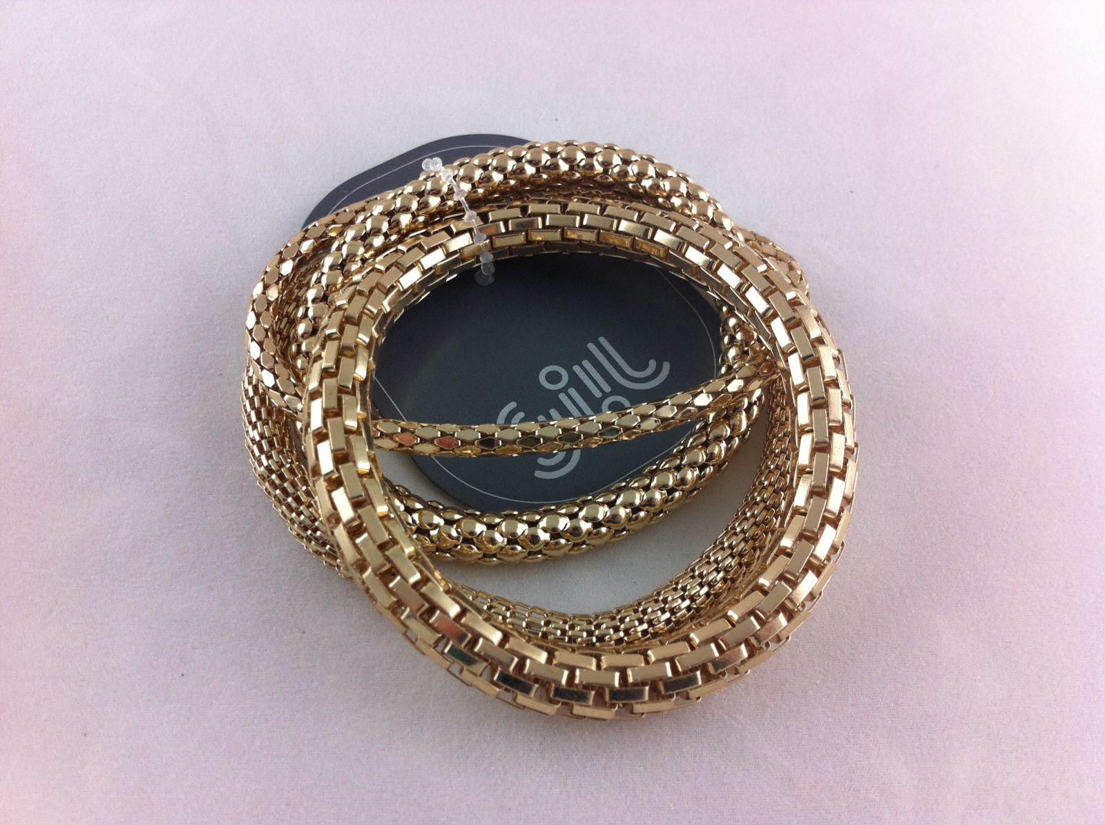 Zlaté náramky na gumičce s různým motivem GIIL