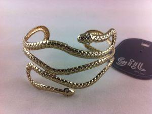 Zlatý antický náramek hadí těla