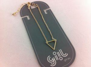 Zlatý jemný náramek s trojúhelníkem