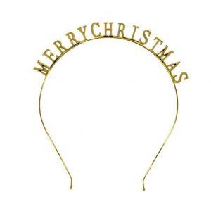 Čelenka s nápisem MERRY CHRISTMAS