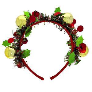 Čelenka s vánočními ozdobami