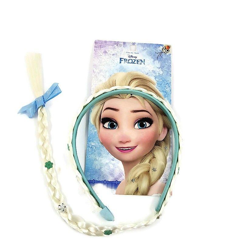 Frozen čelenka s copem královny Elsy