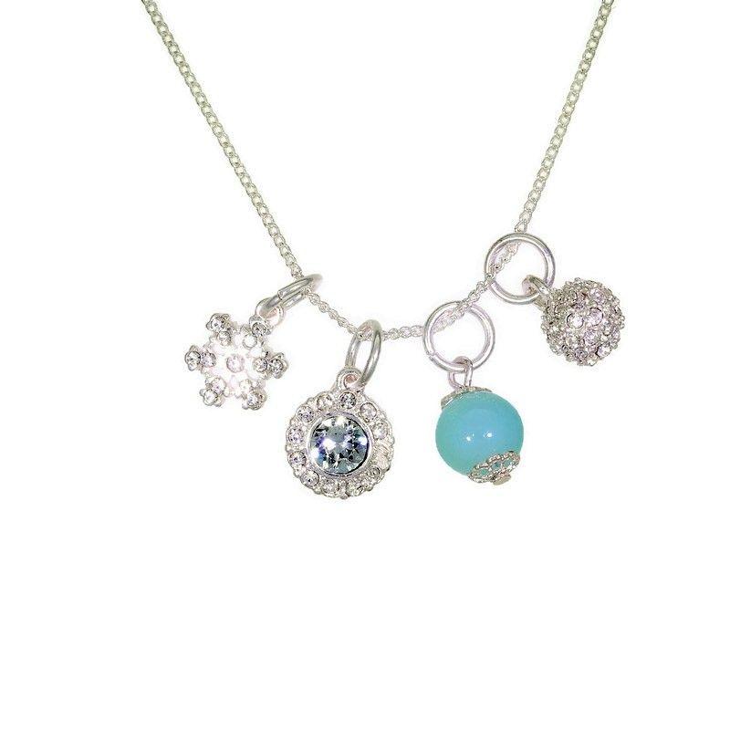 Jemný řetízkový náhrdelník s přívěsky