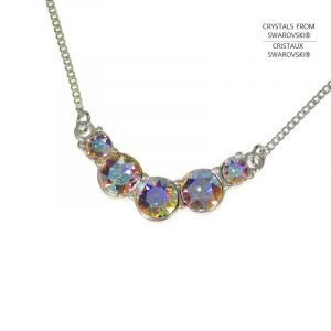 náhrdelník Swarovski s duhovými křišťály