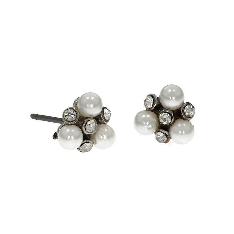 Náušnice Jemné perličky s kamínky