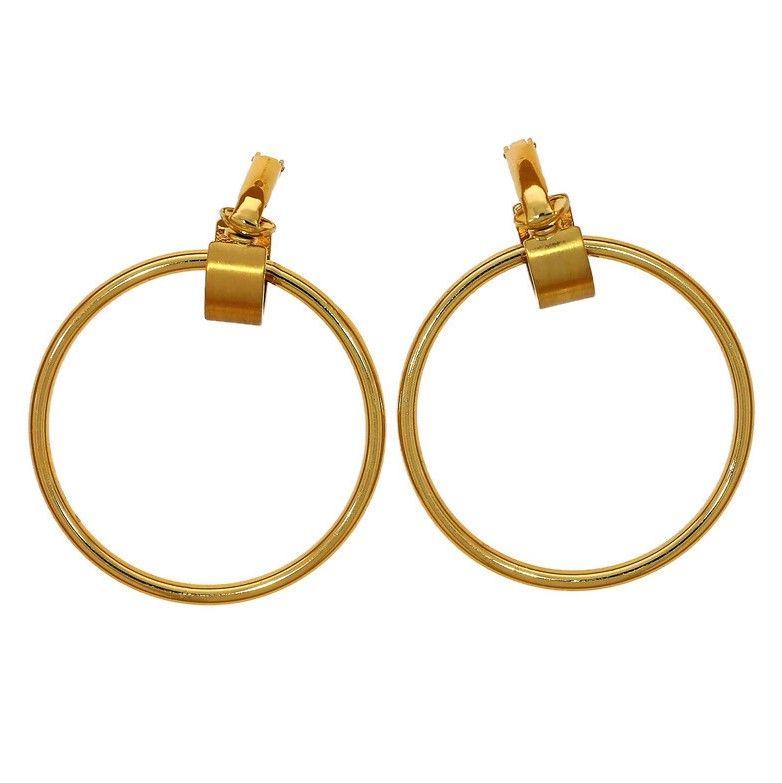 Náušnice klipsy kruhy zlaté
