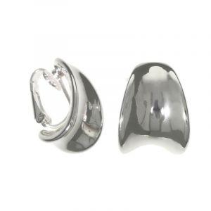 Náušnice kovové klipsy ve stříbrné