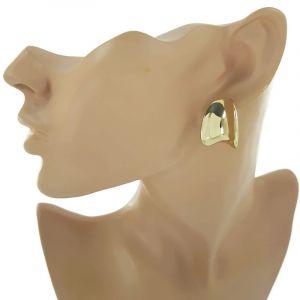 Náušnice kovové klipsy ve zlaté2