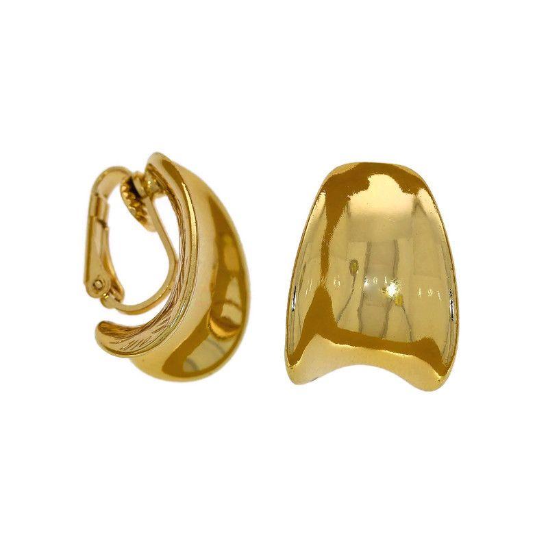 Náušnice kovové klipsy ve zlaté