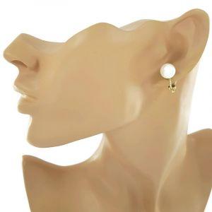 Náušnice klipsy perla2