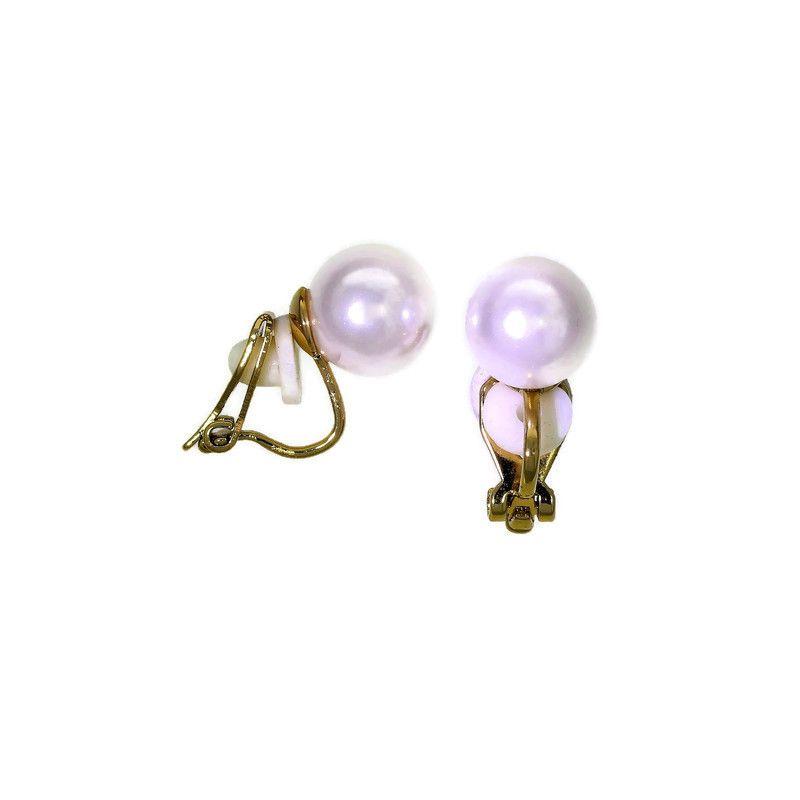 Náušnice klipsy perla