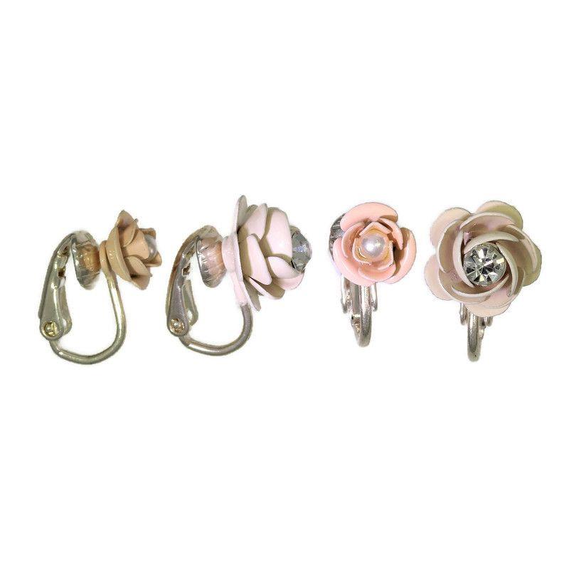 Náušnice klipsy růžičky