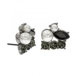 Náušnice pecky s kamínky a perličkami