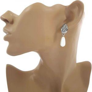 Náušnice visací s perlou 381096b