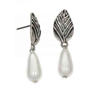 Náušnice visací s perlou 381096