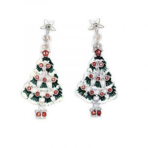 Náušnice visací vánoční stromeček