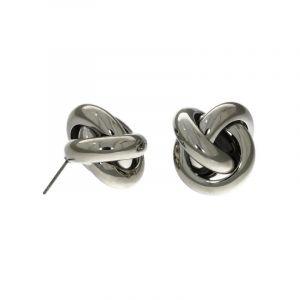 Stříbrné peckové náušnice ve tvaru uzlíku
