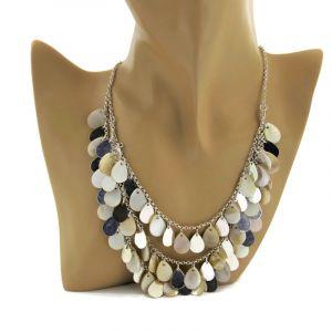 Perleťový náhrdelník s šupinami 1