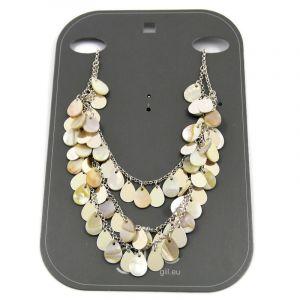 Perleťový náhrdelník s šupinami 2