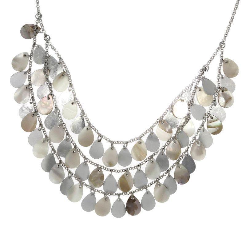 Perleťový náhrdelník s šupinami