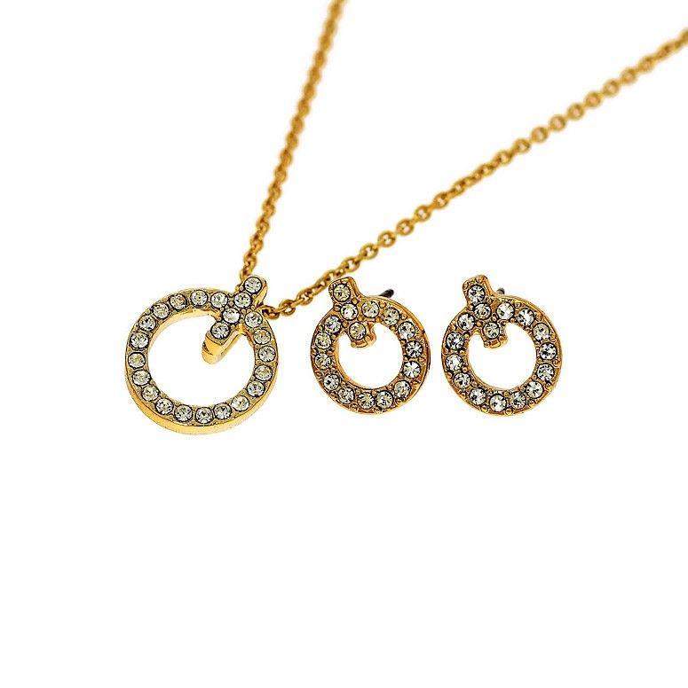 Set náušnic a náhrdelníku s přívěskem ve tvaru kroužku 2