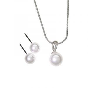 Sada náušnice a náhrdelník s perličkou