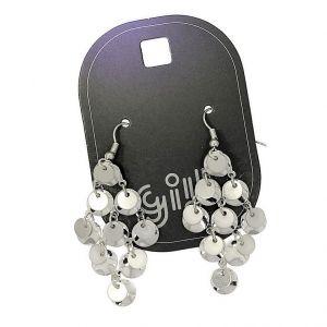 Stříbrné lustrové náušnice placičky
