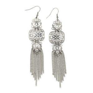 Stříbrné lustrové náušnice v egyptském stylu