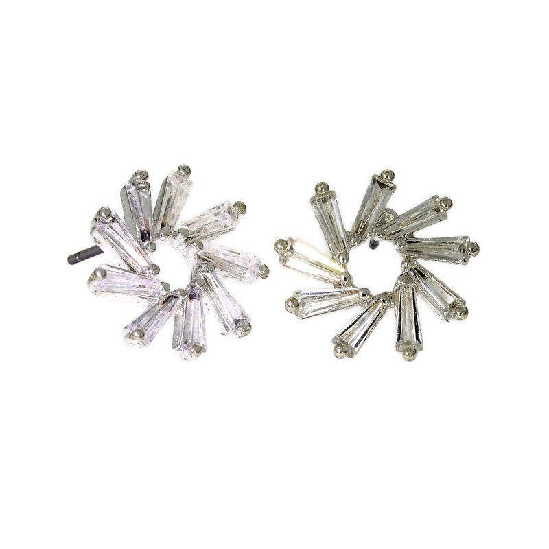 Zatočené náušničky s krystalky