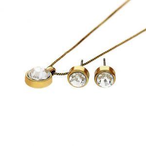 Sada náušnice a náhrdelník s kamínky