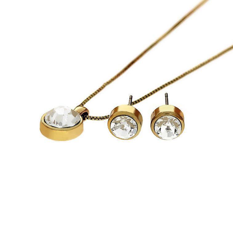 Sada náušnice a náhrdelník s kamínky 2