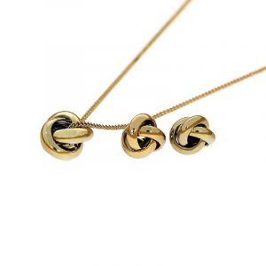 Sada náušnice a náhrdelník uzlíky